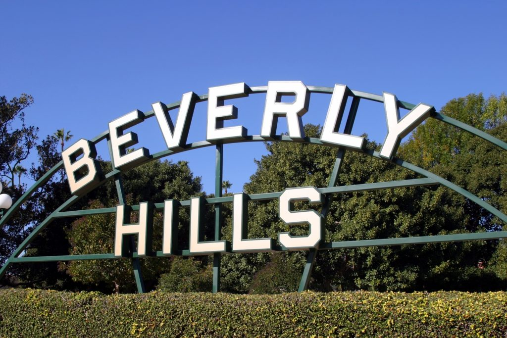 beverly hills sign in los angeles rodeo drive