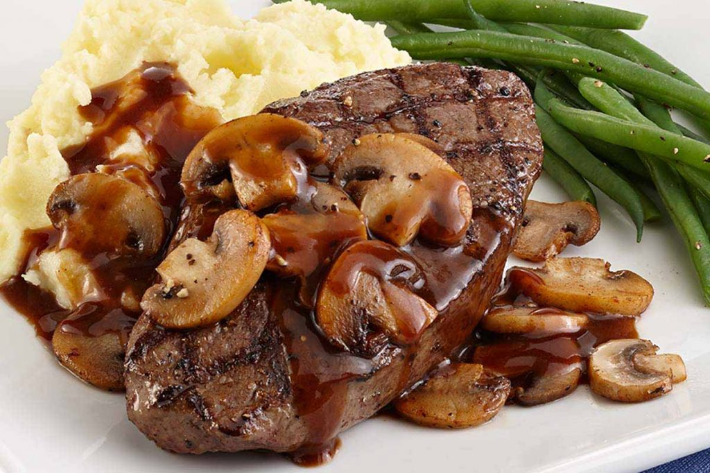 meat_grilled_sirloin_steak_mushrooms_marsala_mashed_potatoes_green_beans_pohuski_9